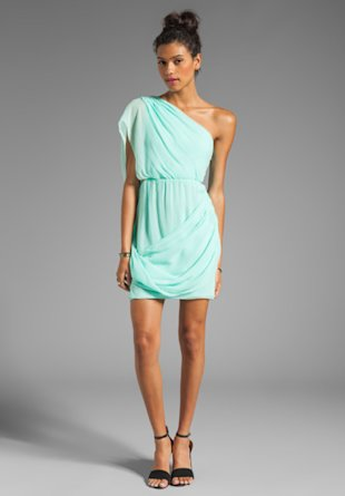 Alice & Olivia One Shoulder Dress