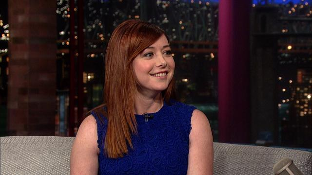 David Letterman - Alyson Hannigan on the Last HIMYM