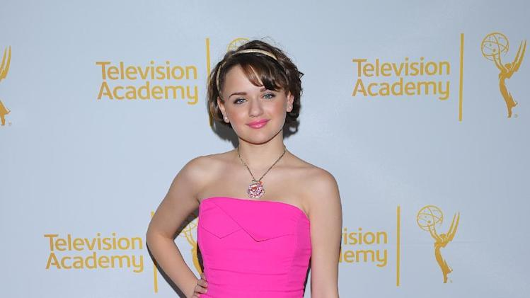 Joey King arrives at the Television Academy's 66th Emmy Awards Writers Nominee Reception on Thursday, August 21, 2014 at the Television Academy in the NoHo Arts District of Los Angeles . (Photo by Vince Bucci/Invision for the Television Academy/AP Images)