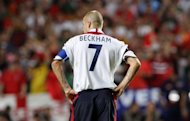 Then-England captain David Beckham in Lisbon in 2004. Beckham revealed Thursday he had not been picked for Great Britain's Olympic football squad. Regarded as a potential skipper of the side, Beckham confirmed in a statement he had not made the final 18-man squad as one of coach Stuart Pearce's three over-age players