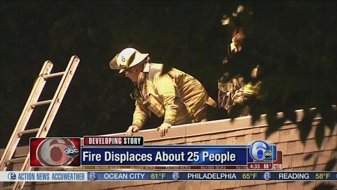 Flames force residents from apartment in Montgomery Co.