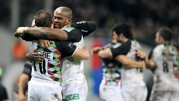 Harlequins players celebrate (AFP)