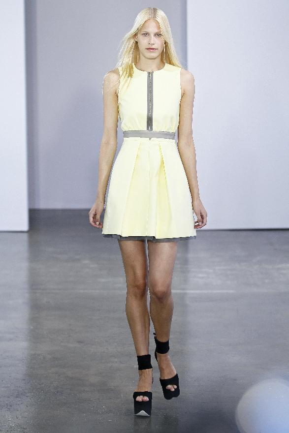In this photo provided by  Victoria, Victoria Beckham, the  Victoria, Victoria Beckham Spring 2013 collection is modeled during Fashion Week in New York, Monday, Sept. 10, 2012. (AP Photo/Victoria, Victoria Beckham, Dan & Corina Lecca)