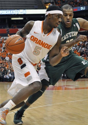 No. 4 Syracuse beats Eastern Michigan 84-48