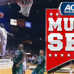 FSU's Okaro White Throws Down Big Dunk Before Halftime | ACC Must See Moment
