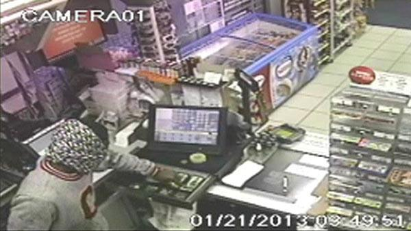 Surveillance of Sugar Land food mart robbery