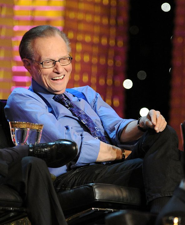 Larry King at the Comedy Central Roast Of Donald Trump. 