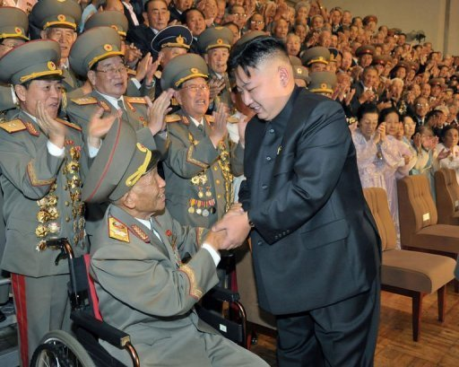 &lt;p&gt;This picture taken by North Korea&#39;s official Korean Central News Agency on July 30 shows North Korean leader Kim Jong-Un (R) meets with veterans in Pyongyang. Kim met with a senior Chinese official late Thursday to discuss closer ties with its main ally Beijing, state media said.&lt;/p&gt;