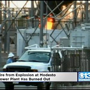Firefighters Letting Modesto Substation Fire Burn Itself Out