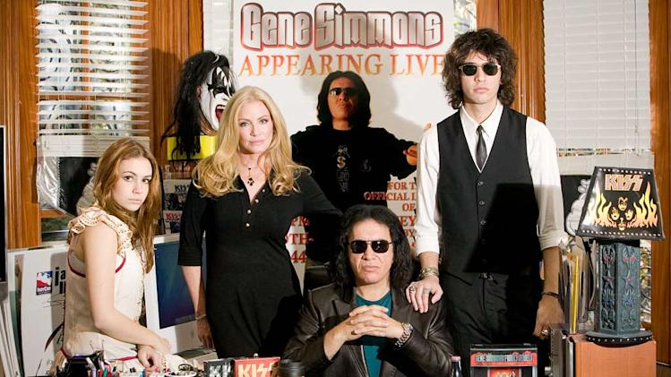 The cast of Gene Simmons Family Jewels.