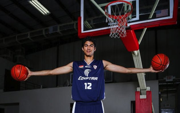 7-foot-1 Anas Osama Mahmoud moved from Cairo this past summer -- Orlando Sentinel