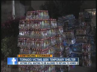 Tornado victims seeking help from area shelters