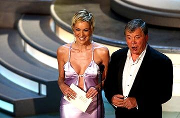 Sharon Stone and William Shatner