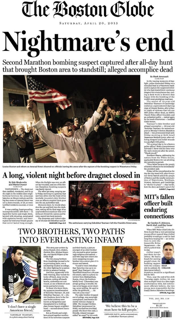 What the Newspapers in Massachusetts Look Like The Morning After