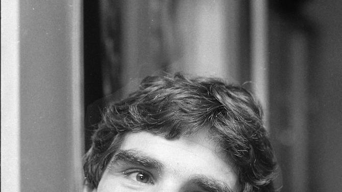 "FILE - In this Nov. 21, 1979 file photo, Harry Reems discusses his acting career in New York. Reems, the former porn star who co-starred in the 1972 movie ""Deep Throat,"" died Tuesday, March 19, 2013 in Slat Lake City.  He was 65.(AP Photo/Marty Lederhandler)"