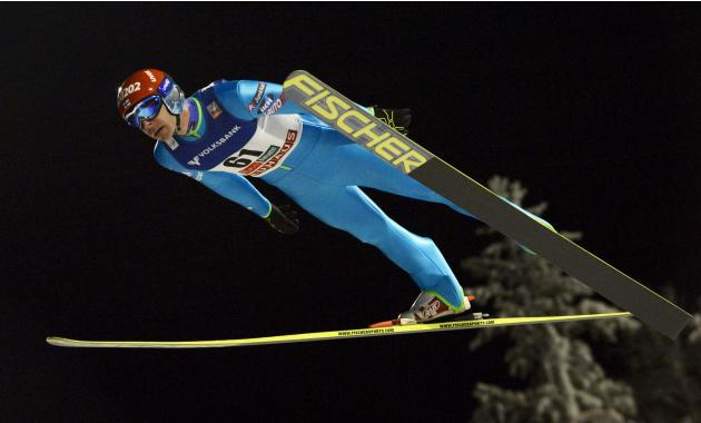 Finland's Janne Ahonen competes during the men's ski jumping HS 142 Large Hill Individual competition at the FIS World Cup Ruka Nordic Opening in Kuusamo