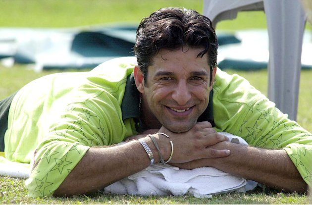 Pakistani pace sensation Wasim Akram smiles as he