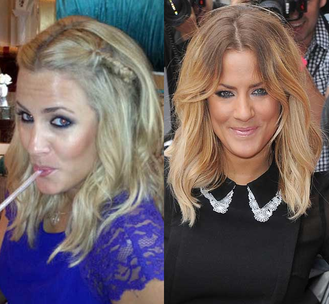 Caroline Flack Reveals Her New Blonde Hair At The X Factor!