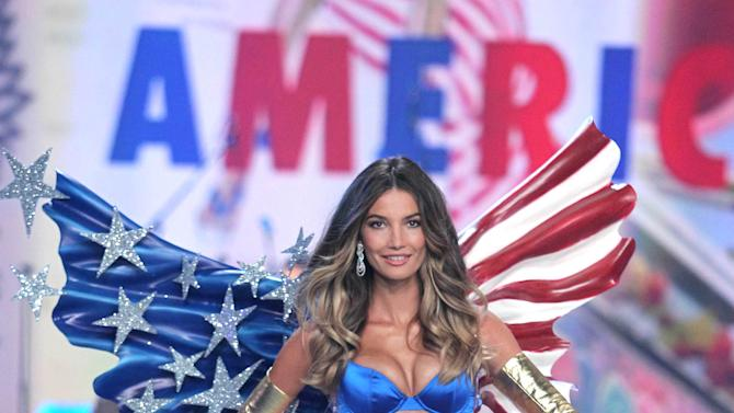 This Nov. 7, 2012 photo released by Starpix shows model Lily Aldridge during The 2012 Victoria's Secret Fashion Show in New York. The California native has been a Victoria's Secret model since 2009, has walked the runway for Rag & Bone and Giles Deacon and appeared in ads for Coach, Clinque and Anthropologie. (AP Photo/Starpix, Amanda Schwab)