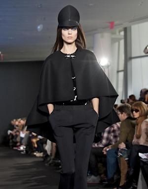 Fall 2012 fashion from Prabal Gurung is modeled during Fashion Week Feb. 11, 2012 in New York. (AP Photo/Stephen Chernin)
