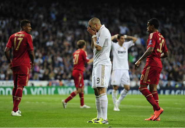 Real Madrid's Portuguese Defender Pepe (C) Reacts AFP/Getty Images