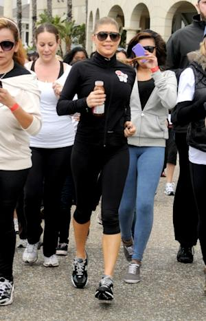 Fergie participates in a charity run for the earthquake and tsunami victims in Japan at Santa Monica Beach on March 27, 2011 in Santa Monica, Calif. -- Getty Images