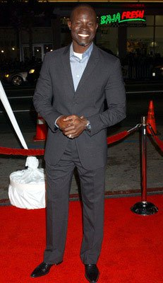 Djimon Hounsou at the Hollywood premiere of Warner Bros. Pictures' Constantine