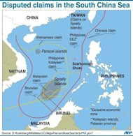 Graphic on disputed boundaries in the South China Sea. China has summoned a top Philippine diplomat and expressed concern over the &quot;harassment&quot; of Chinese fishing boats in disputed waters in the South China Sea, as a maritime stand-off rumbled on