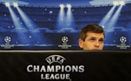 Barcelona's coach Tito Vilanova looks on during a press conference at Luz Stadium in Lisbon on the eve of their UEFA Champions League football match against Benfica
