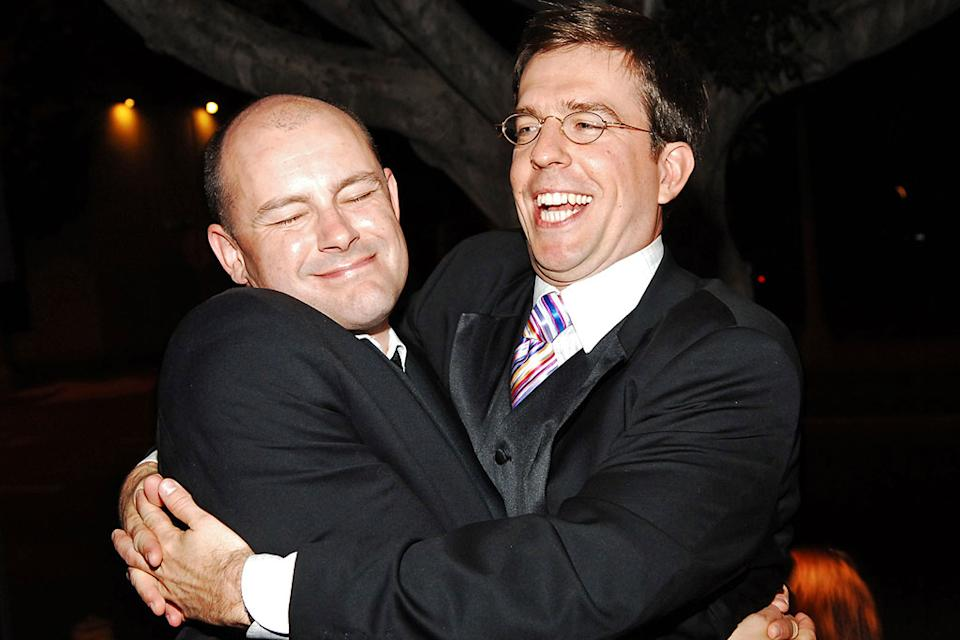 Rob Corddry and Ed Helms at The 57th Annual Emmy Awards - Comedy Central After Party.