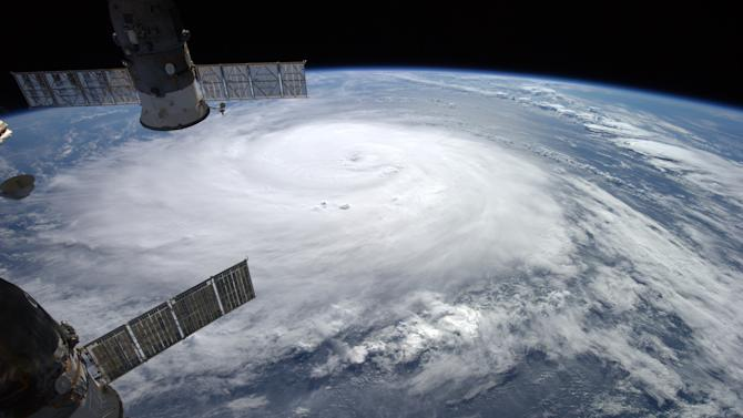 NASA image of Hurricane Gonzalo taken from the International Space Station by European Space Agency astronaut Alexander Gerst on October 16, 2014