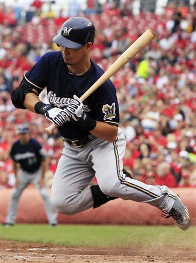 Brewers blow lead in 9th, lose to Reds 2-1