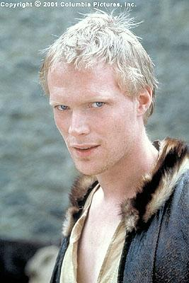 Geoffrey Chaucer ( Paul Bettany ), an oft-naked unknown writer and compulsive gambler who befriends William on his journey, dazzles the crowd with his glowing introductions in the Columbia Pictures presentation, A Knight's Tale