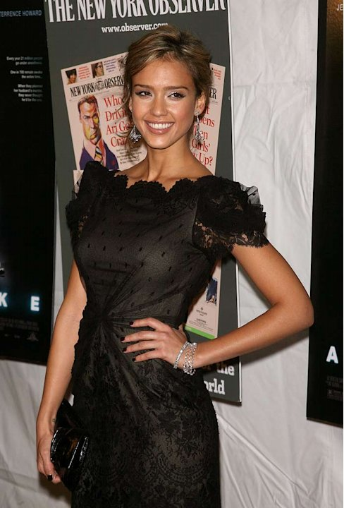 "Jessica Alba arrives at the ""Awake"" Premiere at Chelsea West Cinema."