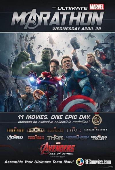 Theaters offer 29-hour Marvel movie marathons ahead of Avengers: Age of Ultron
