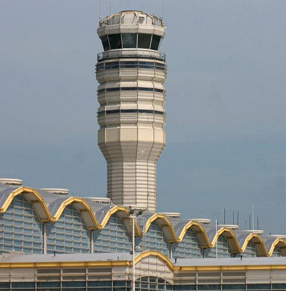 Air Traffic control tower at National Airport, June 7, 2005.