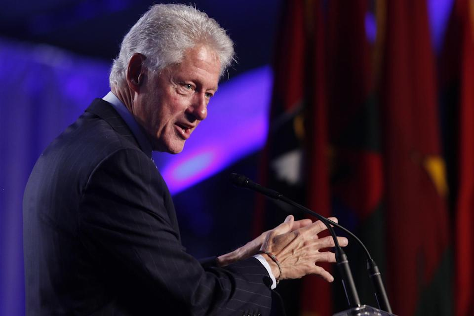 Former President Bill Clinton speaks at the 20th anniversary of the United States Holocaust Memorial Museum in Washington, Monday, April 29, 2013. (AP Photo/Charles Dharapak)