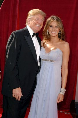 Donald Trump and Melania Knauss 57th Annual Emmy Awards Arrivals - 9/18/2005 Donald Trump