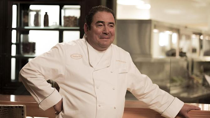 "This image released by Bravo shows celebrity chef Emeril Lagasse during a casting episode of ""Top Chef Seattle,"" in Las Vegas. The new season premieres Nov. 7, on Bravo. Lagasse says more than a dozen chefs from across the country are heading to New Orleans Friday to serve up some of their favorite dishes using or inspired by boudin, a pork and rice sausage common in Louisiana cuisine. Chefs from afar will be joined  by more than two dozen locals for a ""Boudin and Beer"" street party. (AP Photo/Bravo, Isabella Vosmikova)"