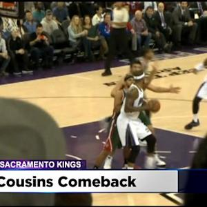 Cousins Gives Full Effort In First Game With Kings Since Illness