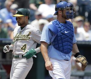 Athletics score early in 10-4 rout of Royals
