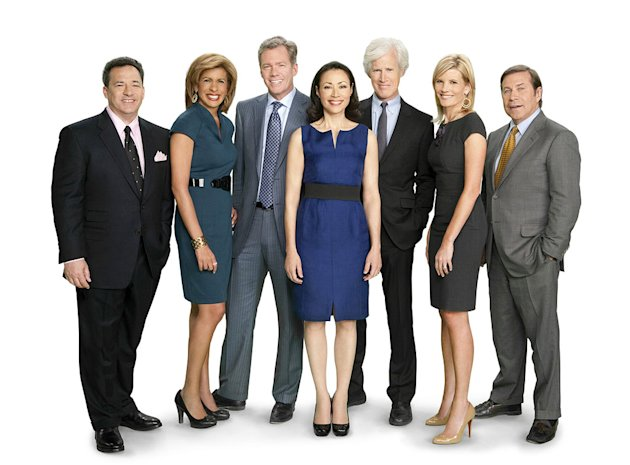 "Josh Mankiewicz, Hoda Kotb, Chris Hansen, Ann Curry, Keith Morrison, Kate Snow, and Dennis Murphy of ""Dateline."""