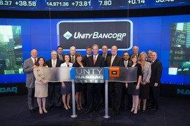 Unity Bancorp Rings The NASDAQ Stock Market Closing Bell, Marking 15 Years on the Stock Exchange