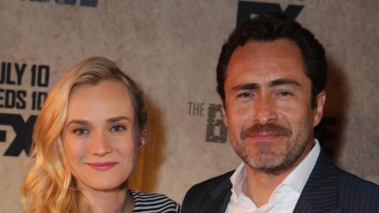 Diane Kruger and Demián Bichir at FX's Screening of The Bridge held at The Pacific Design Center on May 20, 2013 /Invision for CLIENT NAME/AP Images)