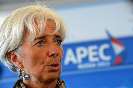 "<p>International Monetary Fund chief Christine Lagarde speaks to the media after the Asia-Pacific Economic Cooperation (APEC) summit in Russia's far eastern port city of Vladivostok on September 9. The IMF wants a role in the ""design and monitoring"" of a new European Central Bank sovereign bond-buying scheme, Lagarde said.</p>"