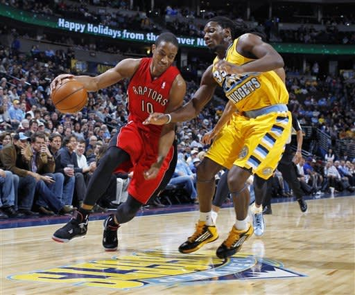 Brewer leads Nuggets past Raptors 113-110