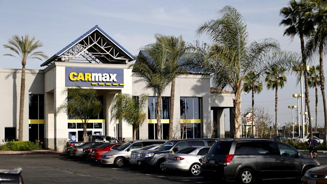 File photo of a CarMax dealership in Duarte, California