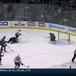Ben Bishop Save on Zach Parise (09:50/2nd)