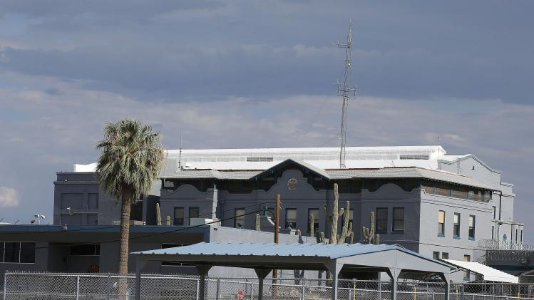 The Arizona state prison where the nearly two hour execution of Joseph Rudolph Wood took place on Wednesday, July 23, 2014, is photographed in Florence, Ariz. Wood was convicted in the 1989 shooting deaths of Debbie Dietz, 29, and Gene Dietz, 55, at an auto repair shop in Tucson. (AP Photo)