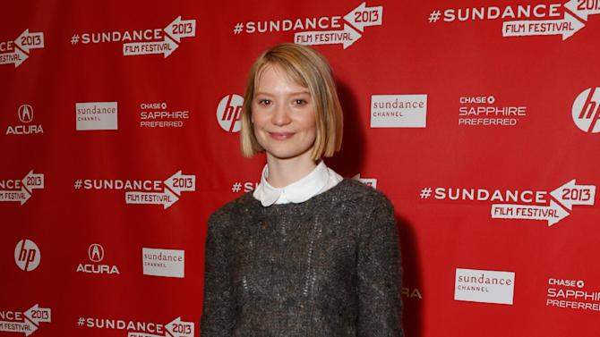 """Actress Mia Wasikowska attends Fox Searchlight's """"The Stoker"""" premiere during Sundance Film Festival on Sunday, Jan. 20, 2012 in Park City, Utah. (Photo by Todd Williamson /Invision for Fox Searchlight/AP Images)"""